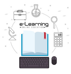 online education concept vector image
