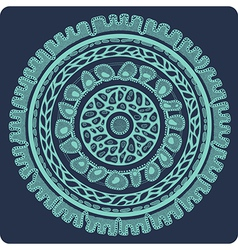 ornamental lace in circle 3 2 vector image