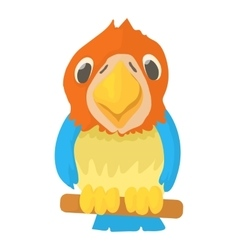 Parrot icon cartoon style vector