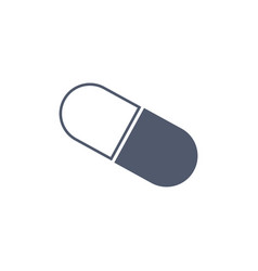 pill icon in trendy flat style pill icon page vector image