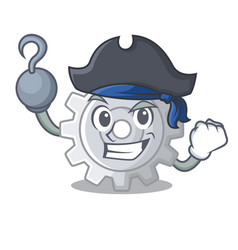 Pirate roda gear simple image on cartoon vector