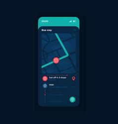 Public transport tracking app smartphone vector