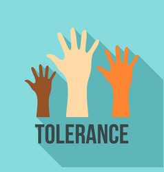 Racism tolerance logo flat style vector