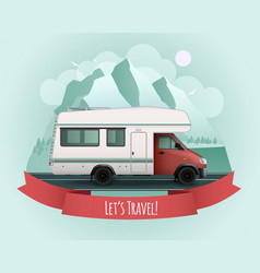Recreational vehicle poster vector