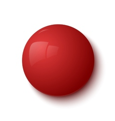 Red glossy button vector
