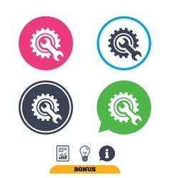 Repair tool sign icon Service symbol vector image