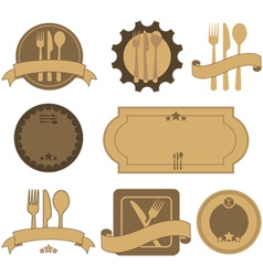 Retro restaurant badges vector image