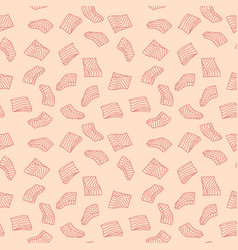 Salmon or trout fillet pink seamless vector