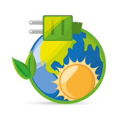 save energy for the planet conservation vector image