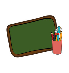 school supplies drawing icon vector image