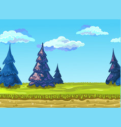 seamless landscape vector image