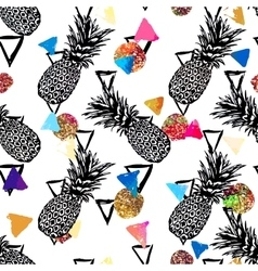 seamless tropical pattern background vector image