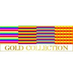 Set background with horizontal stripes rainbow vector image