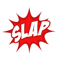 slap text in comic splash icon vector image