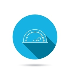 Speedometer icon Speed tachometer with arrow vector image