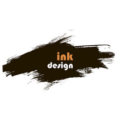 Spot ink banner vector