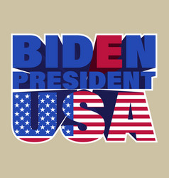 sticker 3d lettering biden president usa american vector image