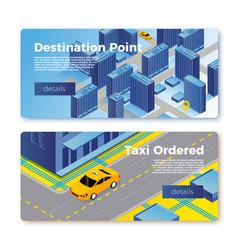 Taxi gps service banner templates concept vector
