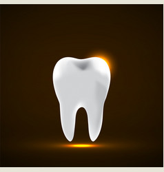 tooth icon stomatology glowing sign logo vector image