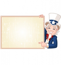 Uncle sam with sign vector