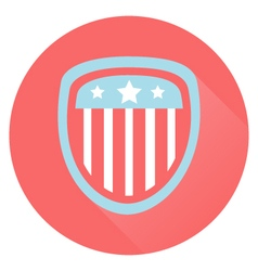 USA Flag Shield Flat Style Icon vector image