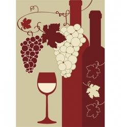 Vine and wine vector