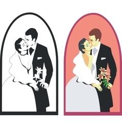 wedding couple 02 vector image