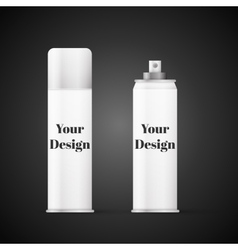 White metal bottle with sprayer cap for cosmetic vector