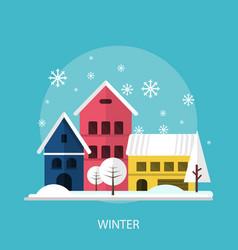 winter season conceptual design vector image