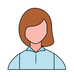 woman portrait on white background vector image