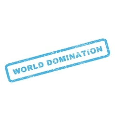 World domination rubber stamp vector
