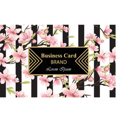 cherry blossom sakura flowers background vector image vector image