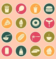 fast food icon vector image vector image
