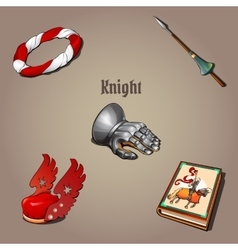 Knight set part of the vestments five items vector image vector image