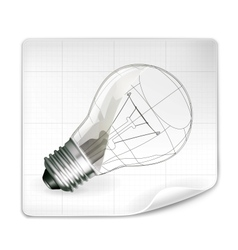 Lamp drawing vector image vector image