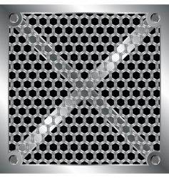 metallic grid vector image vector image