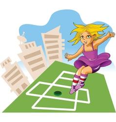 city playground vector image