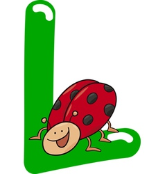 L for ladybug vector image vector image