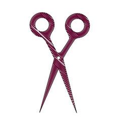 scissors utensil isolated vector image
