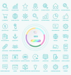 set of universal seo search engine optimisation vector image