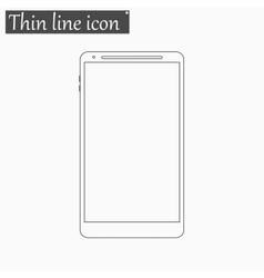 smartphone icon Style thin line vector image