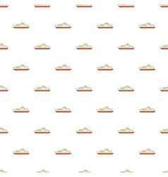 Big ship pattern cartoon style vector image