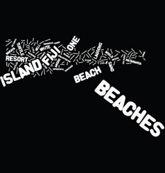 fiji beaches text background word cloud concept vector image vector image