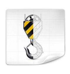 Lifting hook drawing vector image vector image