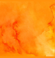 orange abstract hand drawn watercolor background vector image