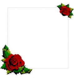 rose cartoon background vector image vector image