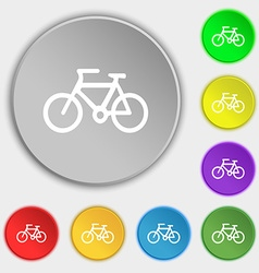 Bicycle icon sign Symbol on eight flat buttons vector image