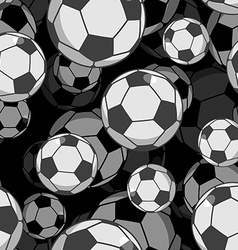 Football ball 3d seamless pattern Sports accessory vector image vector image
