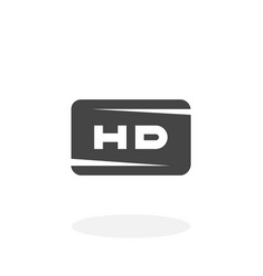 hd icon logo on white background vector image vector image
