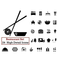 icon set restaurant vector image vector image